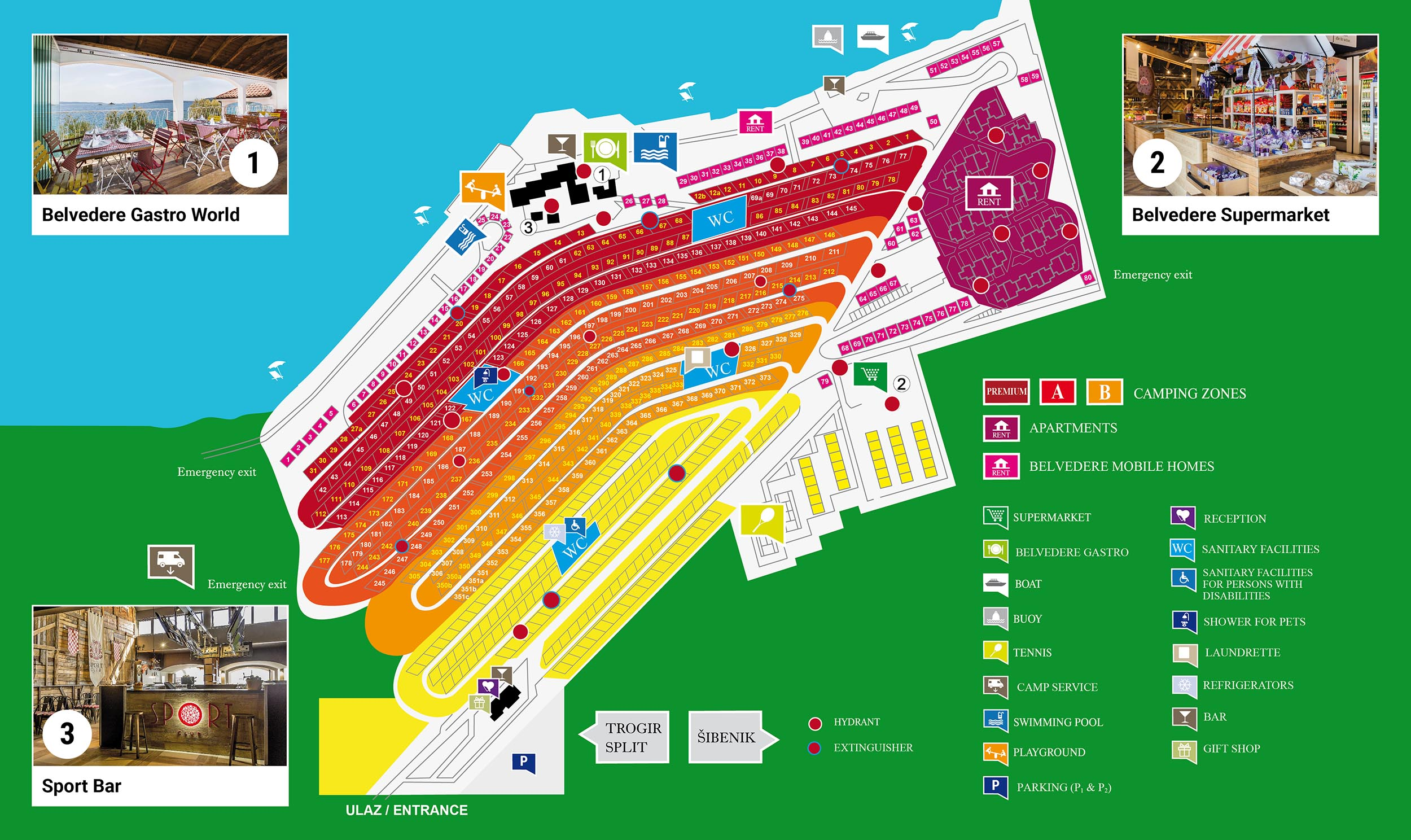 Camping Belvedere map