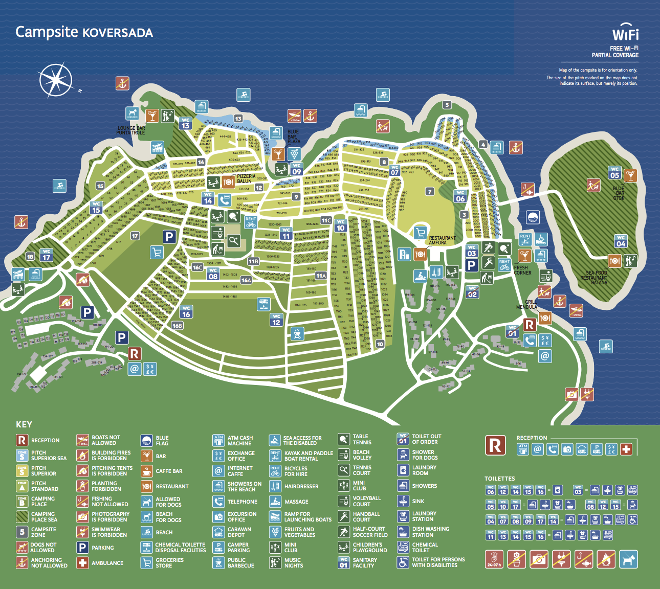 park coversada map