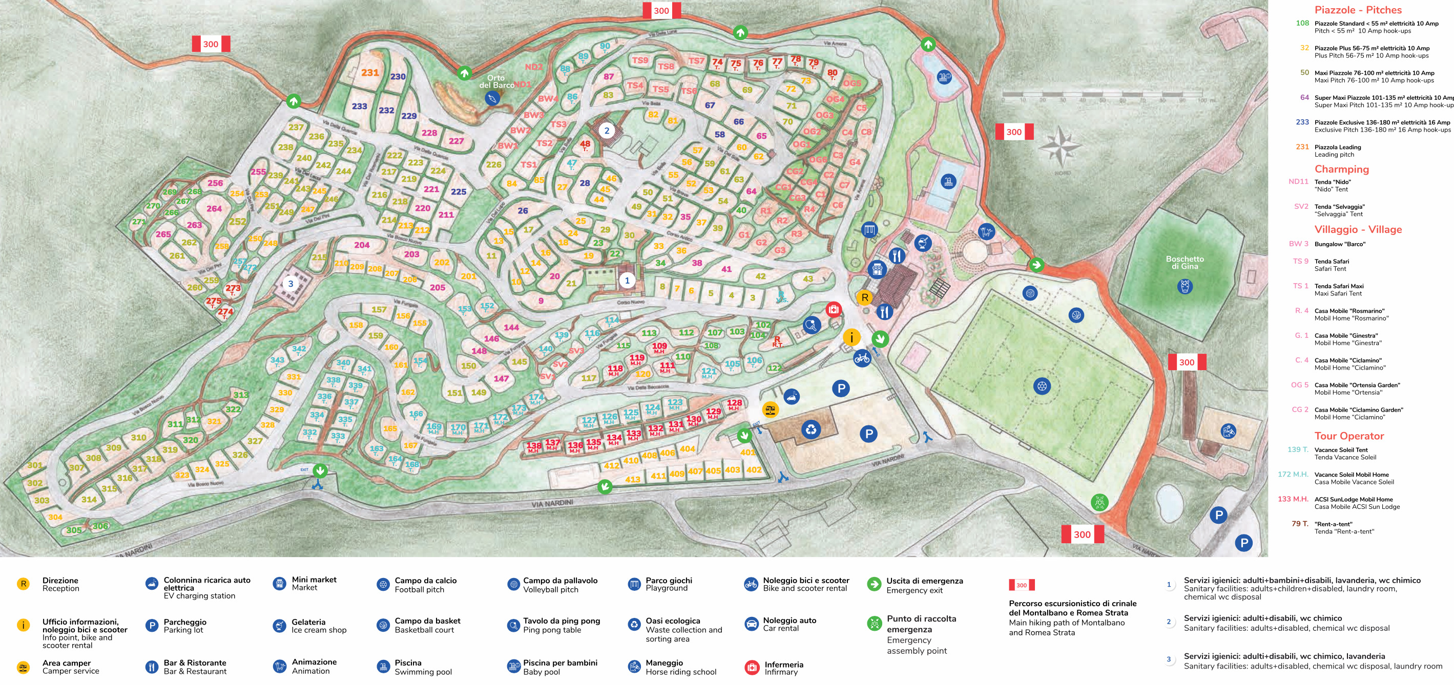 camping barco reale map